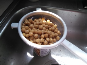 Drain those Chick Peas!